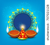 a beautiful diwali greeting... | Shutterstock .eps vector #707021128