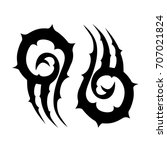 tribal tattoo art designs.... | Shutterstock .eps vector #707021824