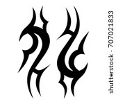 tattoo tribal vector design.... | Shutterstock .eps vector #707021833