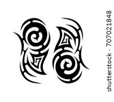 tribal tattoo art designs.... | Shutterstock .eps vector #707021848