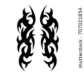 tribal tattoo art designs.... | Shutterstock .eps vector #707021854