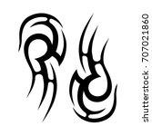tattoo tribal vector design.... | Shutterstock .eps vector #707021860