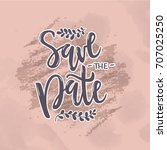 vector illustration of save the ... | Shutterstock .eps vector #707025250