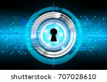 safety concept  closed padlock... | Shutterstock . vector #707028610