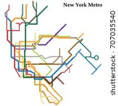 map of the new york city metro  ... | Shutterstock .eps vector #707035540