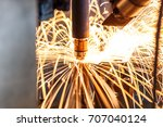 motion welding robots in a car...   Shutterstock . vector #707040124