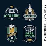 set of vector vintage beer logo | Shutterstock .eps vector #707040418