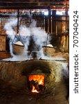 boil salt  lapping crystallized ...   Shutterstock . vector #707040424