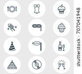 vector illustration of 12 party ... | Shutterstock .eps vector #707041948