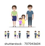 different types of families.... | Shutterstock .eps vector #707043604