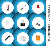 flat icon tool set of pencil ... | Shutterstock .eps vector #707046688