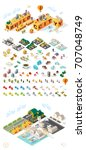 build your own city. set of... | Shutterstock .eps vector #707048749