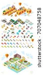 build your own city. set of... | Shutterstock .eps vector #707048758