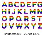 lgbt community alphabet. vector ... | Shutterstock .eps vector #707051278