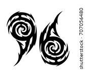 tribal tattoo art designs.... | Shutterstock .eps vector #707056480