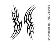tattoo tribal vector design.... | Shutterstock .eps vector #707056498