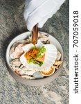 haute cuisine  gourmet seafood... | Shutterstock . vector #707059018
