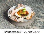 haute cuisine  gourmet seafood... | Shutterstock . vector #707059270