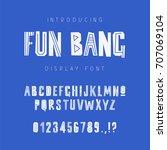 kids geometric vector font on... | Shutterstock .eps vector #707069104
