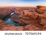 beautiful view of the horseshoe ... | Shutterstock . vector #707069194