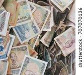 vietnamese money  crumpled...   Shutterstock . vector #707070136