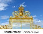 main gate of versailles. paris  ... | Shutterstock . vector #707071663