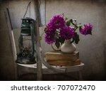 still life with red dahlias | Shutterstock . vector #707072470