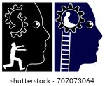 sort out your life. person who... | Shutterstock . vector #707073064