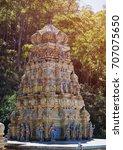 small hindu temple in sri lanka ...   Shutterstock . vector #707075650