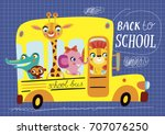 back to school. childish... | Shutterstock .eps vector #707076250