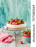 no bake strawberry cheesecake... | Shutterstock . vector #707080069