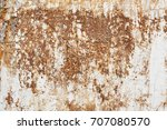 old dirty wall. white and brown ... | Shutterstock . vector #707080570