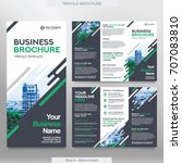 business brochure template in... | Shutterstock .eps vector #707083810