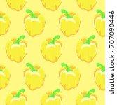 seamless pepper pattern | Shutterstock .eps vector #707090446