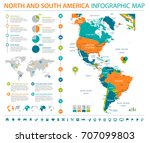 north and south america map  ...   Shutterstock .eps vector #707099803