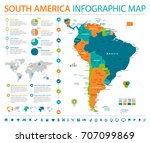 south america map   detailed...   Shutterstock .eps vector #707099869