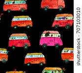 watercolor  seamless pattern... | Shutterstock . vector #707103010