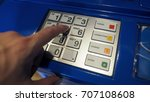 blue color banking atm machine... | Shutterstock . vector #707108608