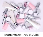 cosmetic cream  lipstik and... | Shutterstock . vector #707112988