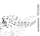 music notes background | Shutterstock .eps vector #70711336