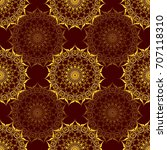 seamless pattern with baroque... | Shutterstock . vector #707118310