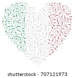 heart shaped abstract italian... | Shutterstock .eps vector #707121973