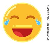 face with tears of joy emoticon ... | Shutterstock .eps vector #707135248