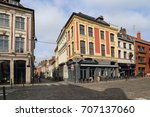 historical houses and... | Shutterstock . vector #707137060