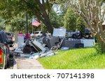 life after devastating floods | Shutterstock . vector #707141398
