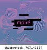 a moire pattern  moire fringes  ... | Shutterstock .eps vector #707143834