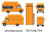 food truck vector mock up for... | Shutterstock .eps vector #707146759
