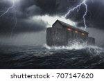 noah's ark vessel in the... | Shutterstock . vector #707147620