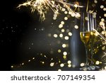 new years eve celebration... | Shutterstock . vector #707149354