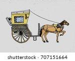 horse drawn carriage or coach....